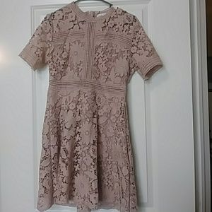 Chicwish Lace Fit and Flare Dress NWT Large